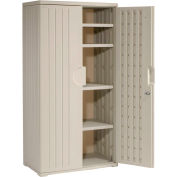 Plastic Storage Cabinet 36x22x72 - Light Gray