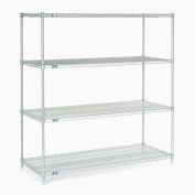 "63""H Nexel Chrome Wire Shelving - 60""W X 36""D"