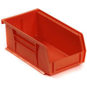 "Akro-Mils AkroBin® Plastic Stacking Bin 30220 - 4-1/8""W x 7-3/8""D x 3""H, Red - Pkg Qty 24"
