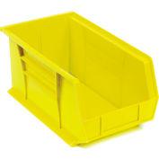 "Akro-Mils AkroBin® Plastic Stacking Bin 30240 - 8-1/4""W x 14-3/4""D x 7""H, Yellow - Pkg Qty 12"