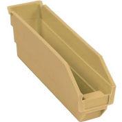 """Nesting Storage Bin - Plastic 2-3/4""""W x 11-5/8""""D x 4""""H Beige - Pkg Qty 24"""