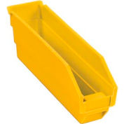 "Plastic Shelf Bin - 2-3/4""W x 11-5/8""D x 4""H Yellow - Pkg Qty 24"