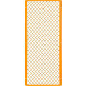Global Industrial™ Machinery Wire Fence Partition Panel, 2'W, Yellow