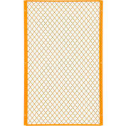 Global Industrial™ Machinery Wire Fence Partition Panel, 3'W, Yellow
