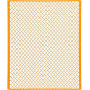 Global Industrial™ Machinery Wire Fence Partition Panel, 4'W, Yellow