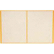 Global Industrial™ Machinery Wire Fence Partition Panel, 8'W, Yellow