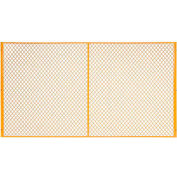 Global Industrial™ Machinery Wire Fence Partition Panel, 9'W, Yellow