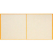 Global Industrial™ Machinery Wire Fence Partition Panel, 10'W, Yellow