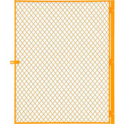 Global Industrial™ Machinery Wire Fence Partition Hinged Door, Yellow