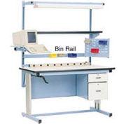 """72""""L Bin Rail - Blue for Pro-Line Workbench"""