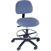 Task Stool - Fabric - Low Back - Pneumatic - Blue
