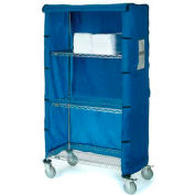 "36""W X 18""D X 63""H Blue Nylon Cover"