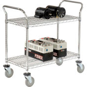 "Nexel® Wire Utility Cart 36""L x 24""W 2 Shelves 800 Lb. Capacity"