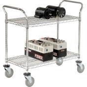 Panier utiliteur en fil métalliqueNexel® de 36 po de longueur x24 po de largeur, 2 tablettes, capacité de 800 lb