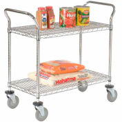 Nexel® Wire Utility Cart 48x24 2 Shelves 800 Lb. Capacity