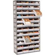 Steel Open Shelving with 48 Corrugated Shelf Bins 13 Shelves - 36x12x73