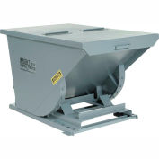 Wright 3377 1/3 Cu Yd Gray Heavy Duty Self Dumping Forklift Hopper