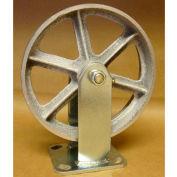 "Semi-Steel Casters 8"" x 2"" (2 Swivel, 2 Rigid) for Wright Self-Dumping & Low Profile Hoppers"
