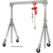 Vestil aluminium Gantry Crane AHA-15-10-10-PNU Adj. Ht. roulettes pneumatiques 1500 Lb