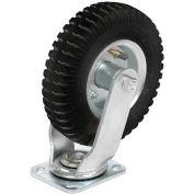 "Swivel Plate Caster 6"" Full Pneumatic Wheel 200 Lb. Capacity"