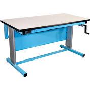 72 x 30 plastique Ergo-ligne supérieure Workbench - bleu