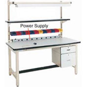 """60""""L Power Supply with Mounting Rail - Beige for Pro-Line Workbench"""