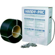 """Pac Strapping Poly Dispenser Accessory w/ 1000 Seals, 7200'L x 1/2"""" Strap Width, Gray"""