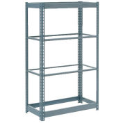 """Heavy Duty Shelving 36""""W x 12""""D x 60""""H With 4 Shelves - No Deck - Gray"""