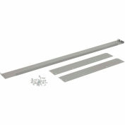 "Back and End Stops For Workbench Top - 60""W x 30""D x 3""H - Gray"