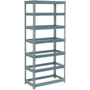 """Global Industrial™ Extra Heavy Duty Shelving 36""""W x 18""""D x 84""""H With 7 Shelves, No Deck, Gray"""