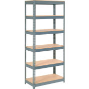 "Extra Heavy Duty Shelving 36""W x 18""D x 84""H With 6 Shelves, Wood Deck"