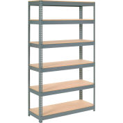 "Extra Heavy Duty Shelving 48""W x 24""D x 84""H With 6 Shelves, Wood Deck"