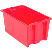 Stacking & Nesting Totes - Shipping SNT180 No Lid 18 x 11 x 6, Red - Pkg Qty 6