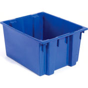Plastic Shipping Containers - Stackable & Nesting SNT300 No Lid 29-1/2 x 19-1/2 x 15, Blue - Pkg Qty 3