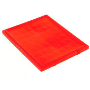 Lid LID191 for Stacking & Nesting Totes - Shipping SNT190, SNT195, Red - Pkg Qty 6