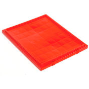 Lid LID231 for Stacking & Nesting Totes - Shipping SNT225, SNT230, Red - Pkg Qty 6