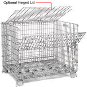 32 X 40 Folding Wire Container Accessory Lid-Hinged