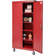 Sandusky Mobile Storage Cabinet TA4R362472 - 36x24x78, Red