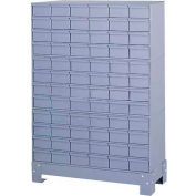 """Durham Steel Drawer Cabinet 019-95 - With 72 Drawers 34-1/8""""W x 12-1/4""""D x 48-1/8""""H"""