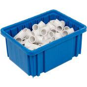 """Plastic Dividable Grid Container - DG91050,10-7/8""""L x 8-1/4""""W x 5""""H, Blue - Pkg Qty 20"""