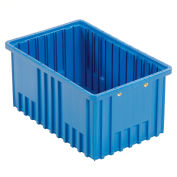 "Plastic Dividable Grid Container - DG92080,16-1/2""L x 10-7/8""W x 8""H, Blue - Pkg Qty 8"