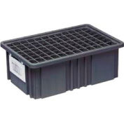 "Quantum Conductive Dividable Grid Container - DG92035CO, 16-1/2""L x 10-7/8""W x 3-1/2""H, Black - Pkg Qty 12"