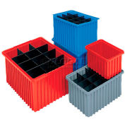 Akro-Mils Akro-Grid Dividable Container 33105 10-7/8 x 8-1/4 x 5 Red - Pkg Qty 20
