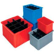 Akro-Mils Akro-Grid Dividable Container 33168 16-1/2 x 10-7/8 x 8 Gray - Pkg Qty 6