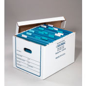 Corrugated Transfer File Record Storage Box With Lid 15x12x10 Pkg Of 20 Sets