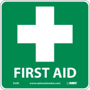 Graphic Facility Signs - First Aid - Vinyl 7x7
