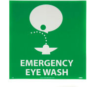 Graphic Facility Signs - Emergency Eye Wash - Vinyl 7x7