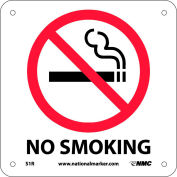 Graphic Facility Signs - No Smoking - Plastic 7x7