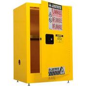 Justrite inflammable liquide Cabinet, 12 gallons, manuel unique porte rangement Vertical