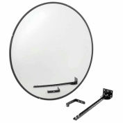 "Round Glass Convex Mirror, Indoor, 36"" Dia., 160° Viewing Angle"
